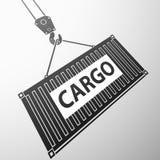 容器货物 背景明亮的例证桔子股票 库存照片