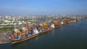 容器货船,进出口,企业后勤供应链运输概念 股票视频