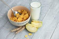 容易的健康早餐一个快乐的早晨 图库摄影