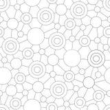 容易的几何无缝的样式 库存图片