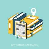 容易的得到的信息概念平的3d等量infographic 免版税图库摄影