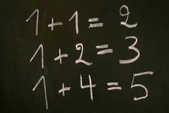 容易的数学 免版税库存照片