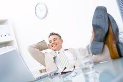 容易的生意人 免版税库存图片