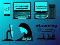 容易的电子教学设计观念和广告 免版税库存图片