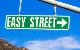 容易的符号街道 库存照片