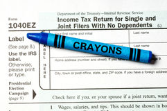 容易的表单税务 免版税图库摄影