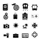 容易编辑图标旅行 库存例证