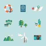 容易编辑图标旅行 免版税库存图片