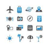 容易编辑图标映象集旅行向量 免版税库存照片