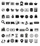 容易编辑图标集合购物导航 免版税库存照片