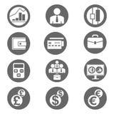 容易编辑财务图标映象集导航 免版税图库摄影