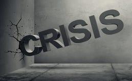 容量危机词信件易碎到混凝土墙里 库存例证