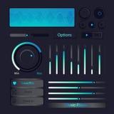 容量按钮控制象音乐播放器传染媒介 图库摄影