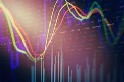 容量烛台图表股票市场交换分析/显示贸易图表 库存例证
