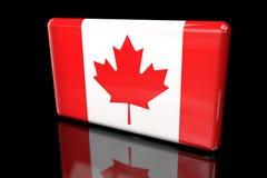 容量的加拿大3D的旗子 向量例证