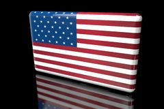 容量的美国3D的旗子 皇族释放例证