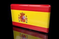 容量的西班牙3D的旗子 库存例证