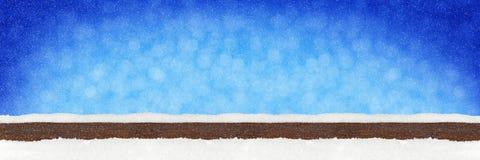 宽全景蓝色木圣诞节bokeh背景 免版税库存照片