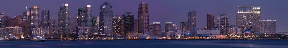 宽全景风景圣地亚哥 免版税图库摄影