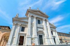 宽容大教堂在乌尔比诺,意大利 库存图片