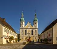 宽容大教堂在Arlesheim 免版税库存图片