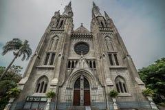 宽容大教堂教会的外视图,雅加达,印度尼西亚 免版税库存照片