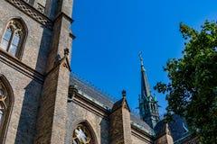 宽容大教堂部份看法在布拉格 库存照片