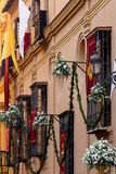 宽容庆祝的装饰的修造的门面 免版税图库摄影
