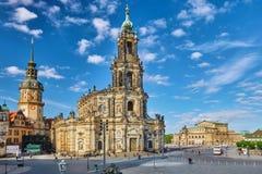 宽容法院教会(Katholische Hofkirche) 库存照片