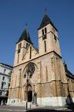 宽容耶稣圣心大教堂在老萨拉热窝镇波斯尼亚Hercegovina 图库摄影