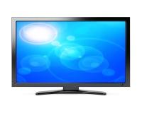 宽屏幕的电视 免版税库存图片