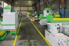 宽技术旅行 金属工艺机器的生产的商店工厂 免版税图库摄影