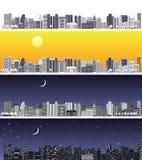 宽抽象都市风景 免版税库存照片