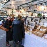 宽敞的大街,牛津,英国, 2016年12月04日:的艺术 图库摄影