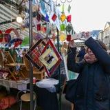 宽敞的大街,牛津,英国, 2016年12月04日:的艺术 免版税库存图片