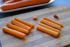 宽新红萝卜和棍子风景边 免版税库存照片