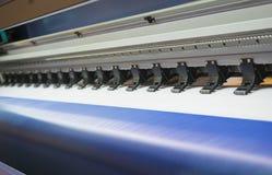 宽格式喷墨打印机 图库摄影