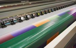 宽格式喷墨打印机 免版税库存照片