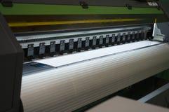 宽格式喷墨打印机 库存照片