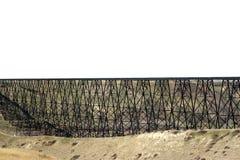 宽桥梁的铁路 免版税库存图片
