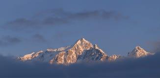 宽横向的山 库存照片