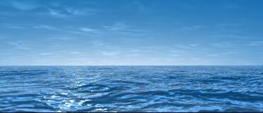 宽海洋 免版税库存照片