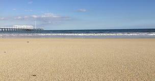 宽海滩 库存图片