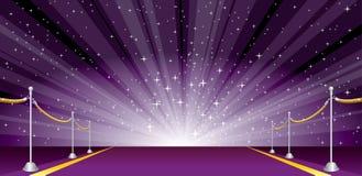 宽爆炸紫色 库存图片