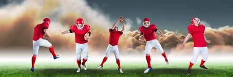 宽美国橄榄球运动员领域的 免版税库存图片