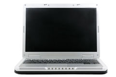 宽膝上型计算机的屏幕 图库摄影