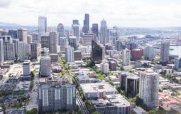 宽西雅图的地平线 库存照片