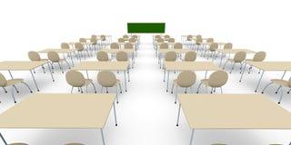 宽角度的教室 免版税库存图片