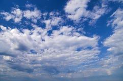 宽角度的蓝天 图库摄影