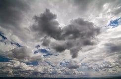 宽角度的skyscape 库存图片